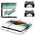 NHL Minnesota Wild PS4 Skin Sticker Decal Vinyl For Sony PS4 PlayStation 4 Console and 2 Controller Stickers