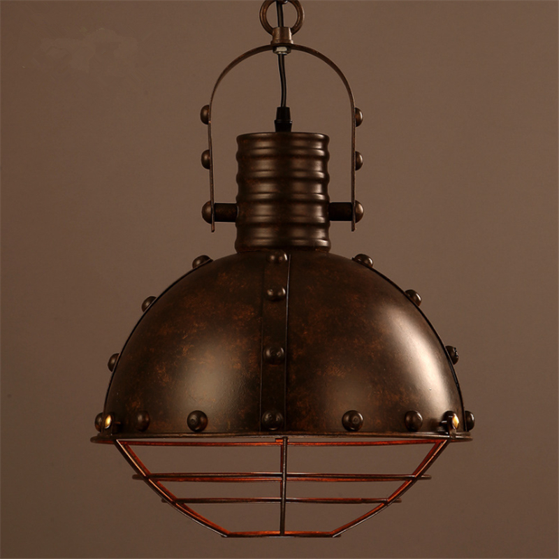 American Country Creative Iron Pot Lid Dining Room Pendant Lamp Hotel Bar Loft Industrial Cafe /  Bar Pendant Lamp Free Shipping