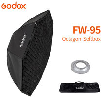 Godox Pro 95cm Studio Octagon Honeycomb Grid Reflector Softbox for Bowens Mount Apply to Studio Strobe Flash Light(China)