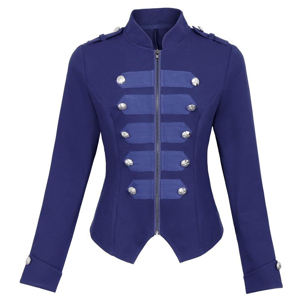 Autumn Jacket Women Military Jackets Army Coat Outerwear -1684