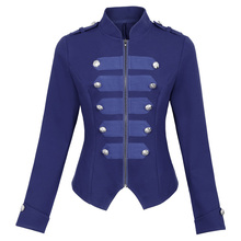 Autumn Jacket Women Military Jackets Army Coat Outerwear 2017 Steampunk Buttons Victorian Gothic Vintage Corset Woman Coats Tops
