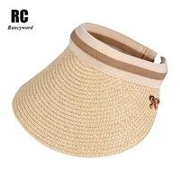 Rancyword Summer Sun Hats For Women Large Brim Visor Caps Ladies Outdoor Summer Beach Sun