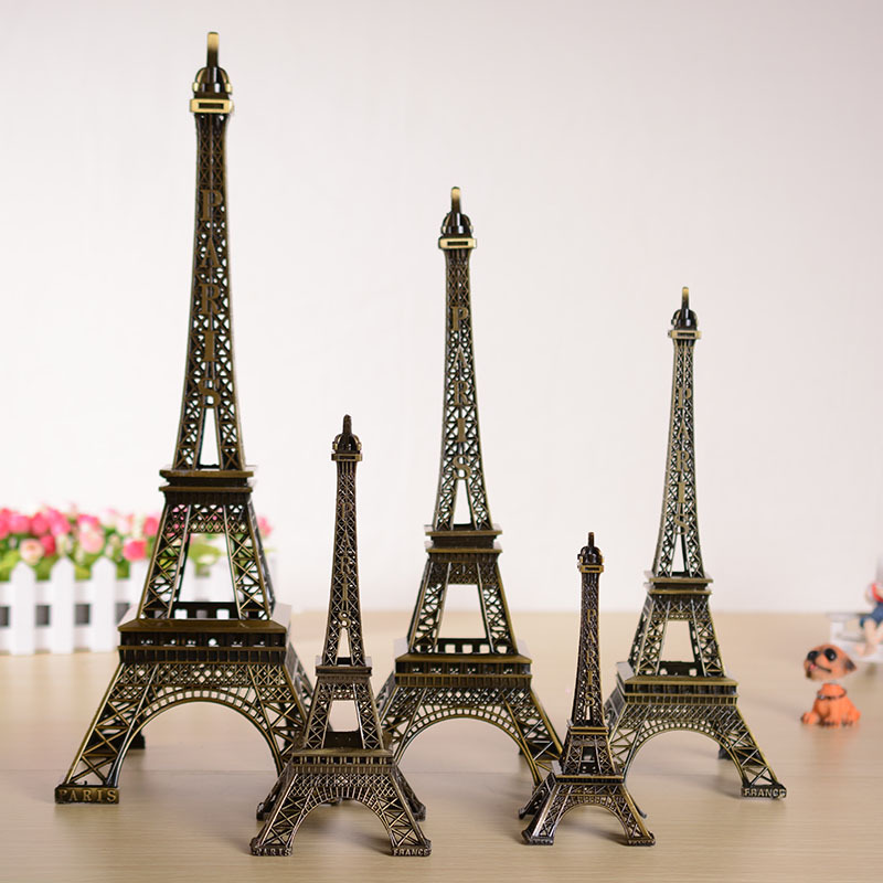 Kreativní Evropa Bronzová Pařížská věž Velký model Ornamenty Domácí dekorace Kovové řemesel Vintage věžové figury Dekorace Narozeninové dárky