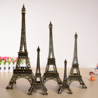 Creative Europe Bronze Paris Tower Big Model Ornaments Home Decor Metal Crafts Vintage Tower Figurines Decoration Birthday Gifts