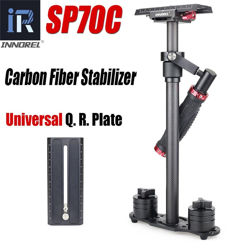 Sp70c profissional portátil de fibra carbono mini handheld câmera estabilizador dslr filmadora vídeo steadicam melhor do que s60t
