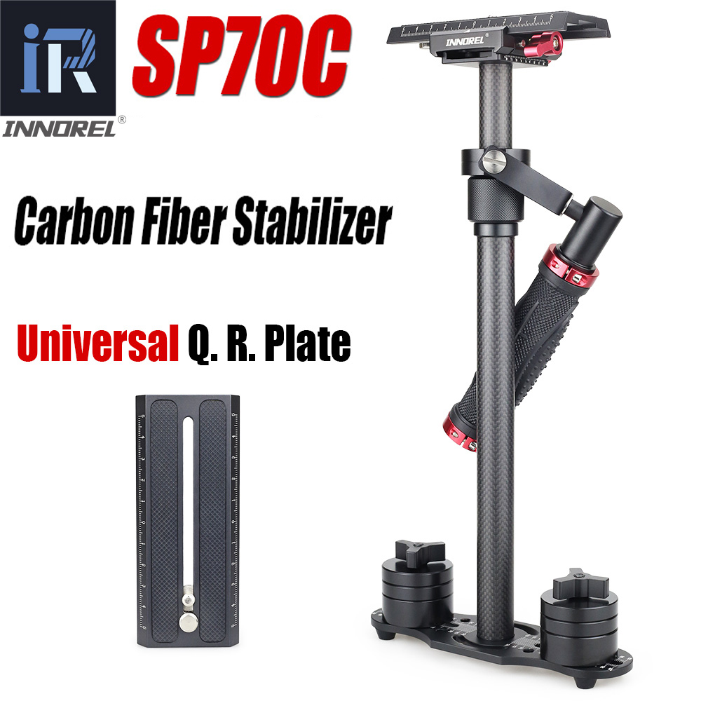 SP70C Profissional de Fibra De Carbono Portátil Mini Handheld Câmera Estabilizador DSLR Camcorder Steadicam Vídeo Melhor do que S60T