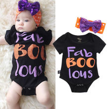 2016 Fashion Christmas Newborn Infant Baby Girl Romper Jumpsuit Bow Outfits Clothes