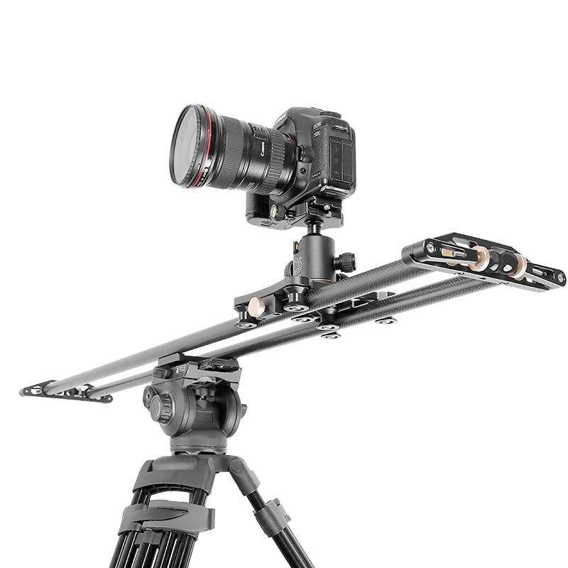 QZSD caméra curseur 10 kg bearCarbon fiber de voyage vidéo curseur voie de chariot dslr rail pour Nikon Canon Sony vidéaste