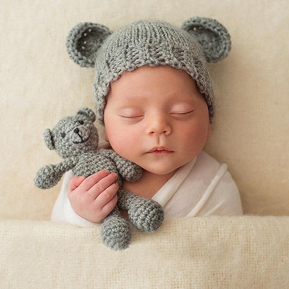 hot baby hat cute lovely animal bear handmade newborn photography