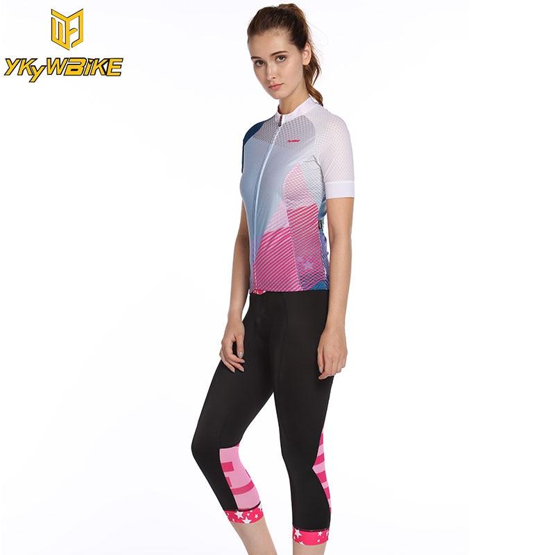 YKYWBIKE Cycling Jersey Bib Short Cycling Kits Women SportsClothing Bicicleta Kits Ropa Ciclismo Clothing Factory Direct Sale