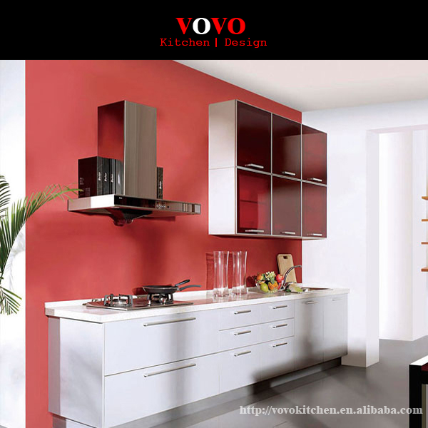 White Kitchen Cabinets For Sale: 2014 Hot Sale White And Red High Glossy Lacquer Kitchen