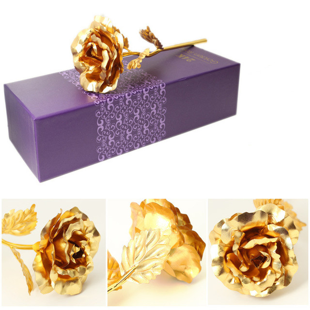 Foil Plated Rose Gold Rose  Flower  Gift lover's