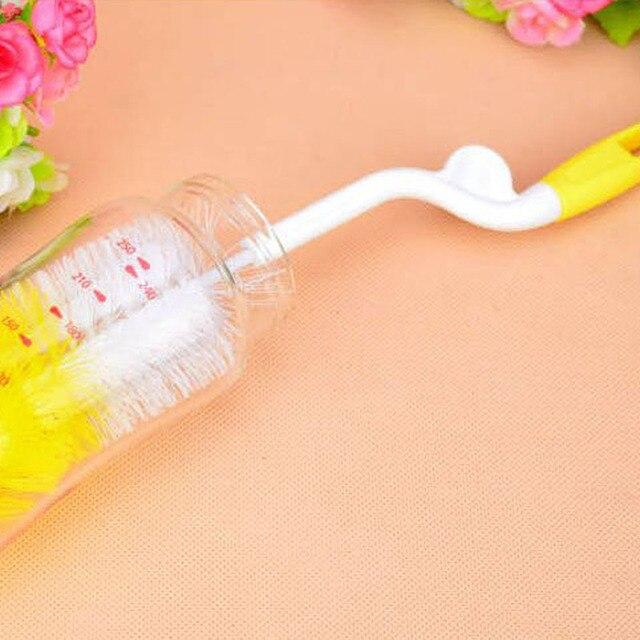 5Pcs Baby Milk Feeding Bottle Brush Handly Portable Nylon and Sponge Tube Cleaner 2