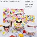 Cute Cartoon Mickey Tsum Bowl Cup Dish Sets High Grade A5 Melamine Dinner Plate China Cheap Plastic Kitchen Tableware Kids Gift