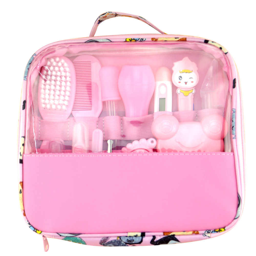 Cute Baby Kit Kid Healthcare Baby Care Kit Baby Grooming Set Kit Thermometer Clipper Scissor Kid Toiletries For Baby