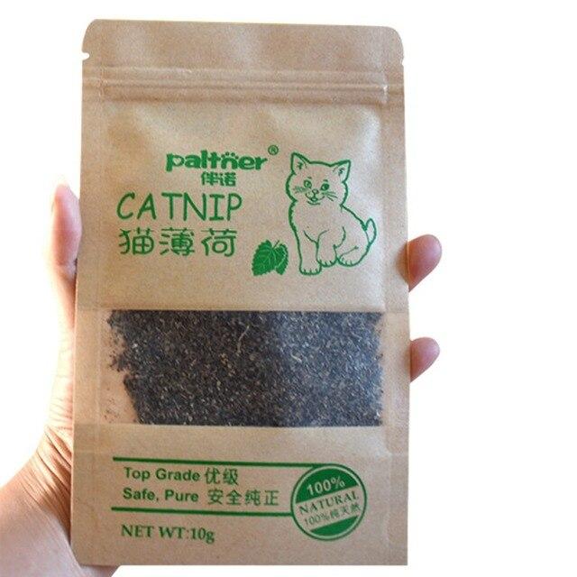 100% Premium Naturale Gatto Giocattoli Catnip Organico 10g Bestiame Erba Mentolo