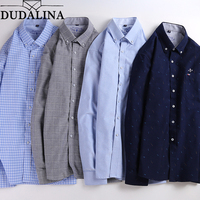 Dudalina Oxford Camisa Male Shirts Long Sleeve Men Shirt Brand Clothing Casual Slim Fit Camisa Social Masculina Chemise Homme