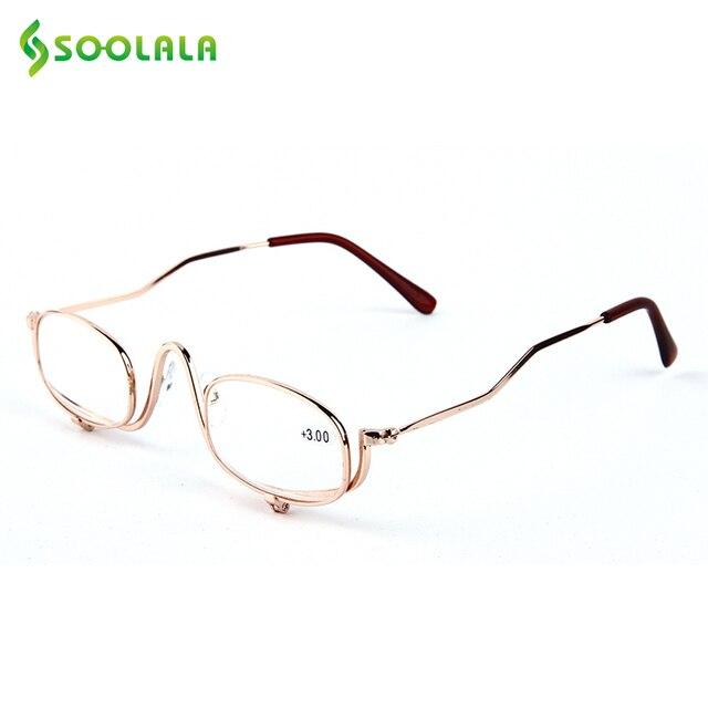 616c569b6 Mulheres Ultraleves SOOLALA Leitor Óculos de Leitura Armação de Metal Clip  Sobre Maquiagem Lupa Barato Melhores