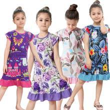 Новые брендовые ночные платья с 3D принтом для девочек Детские пижамы подходит для детей от 2 до 10 лет