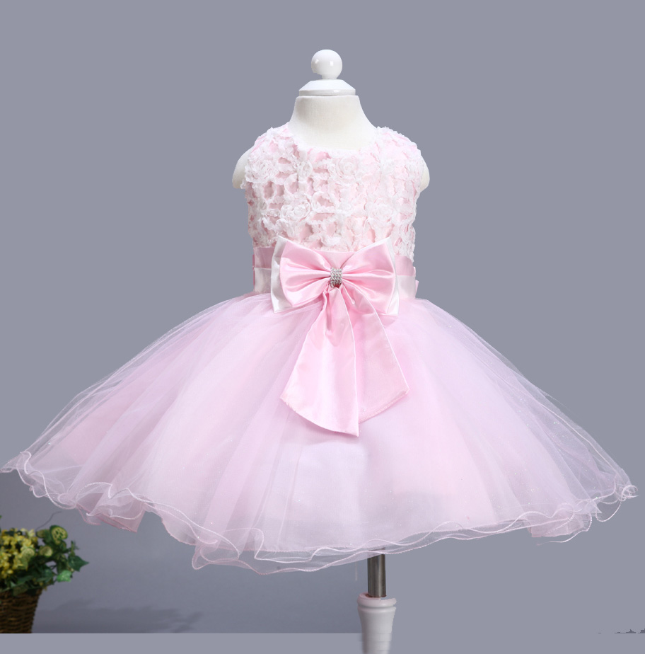 Whole Party Dress Baby Dancing With Hot Pink Bow Children 6pcs Lot Free Shipping 711 In From Mother Kids On