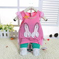2016 New Girls Clothing Sets Baby Kids Clothes Suit Children Short Sleeve T-Shirt +Pants Baby Girls Clothes Set