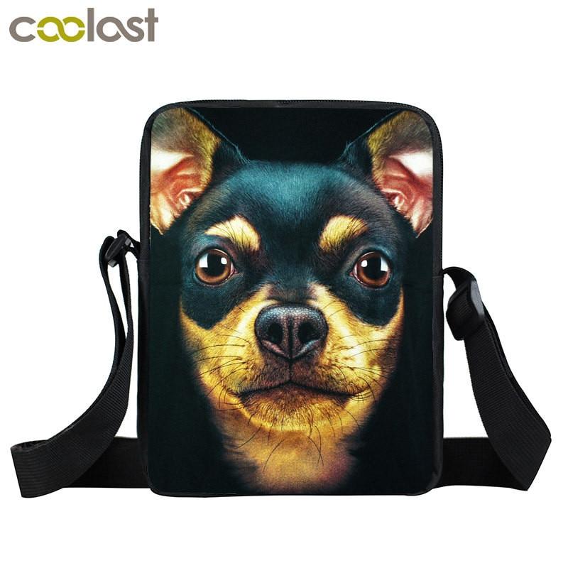 German Shepherd Chihuahua Husky Crossbody Bag For Men Women Handbags Rottweiler Dog Mini Messenger Eagle Shoulder Bags In From