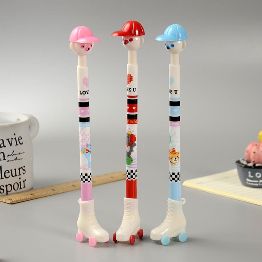 2× Lovely Skateboard Ballpoint Pen Fashion School Prizes Creative Stationery