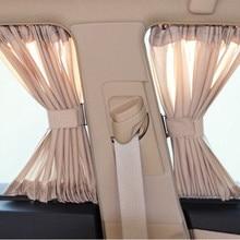 2PCS 70*39CM Car Sun Shade Car Side Window Sunshade Curtains UV Sunshade Visor Window Curtain