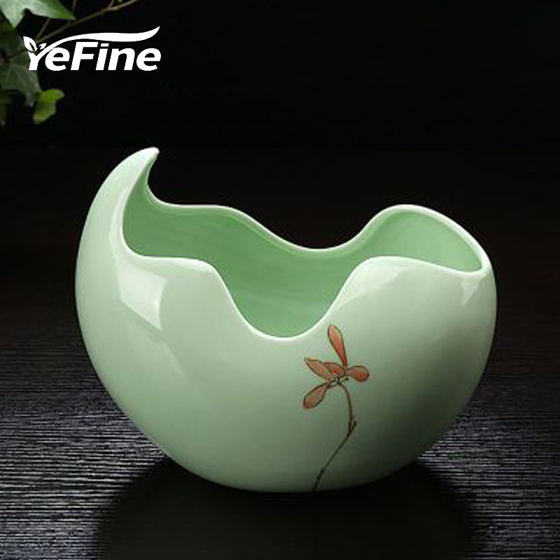 YeFine Ceramic Flower Pot For Garden Succulent Plants Brief Crafts Home Decor Bonsai Planter Flowerpots Office