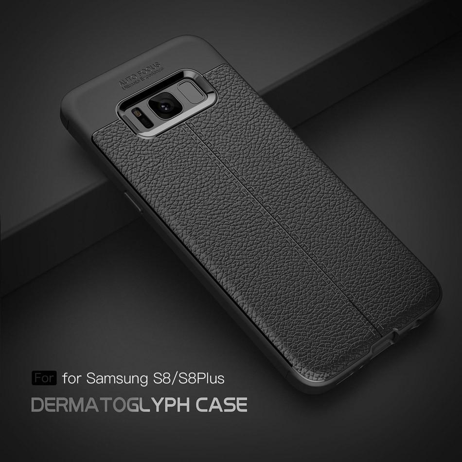 Samsung Galaxy S8 S8 Plus üçün karbon lifli toxumalı TPU silikon - Cib telefonu aksesuarları və hissələri - Fotoqrafiya 2