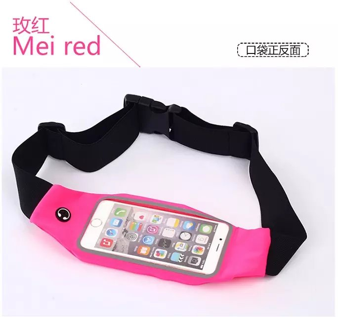 5pcs Multi-purpose mobile phone outdoor sports launch waist bag waterproof touchscreen smartphone pocket leave message for color