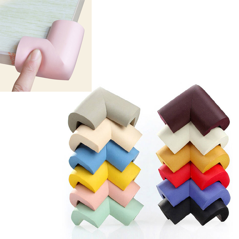 10pcs/lot New Arrival Children Protection Table 10 Solid Colors Optional  Pads On Corners Thick Design Corner Protector