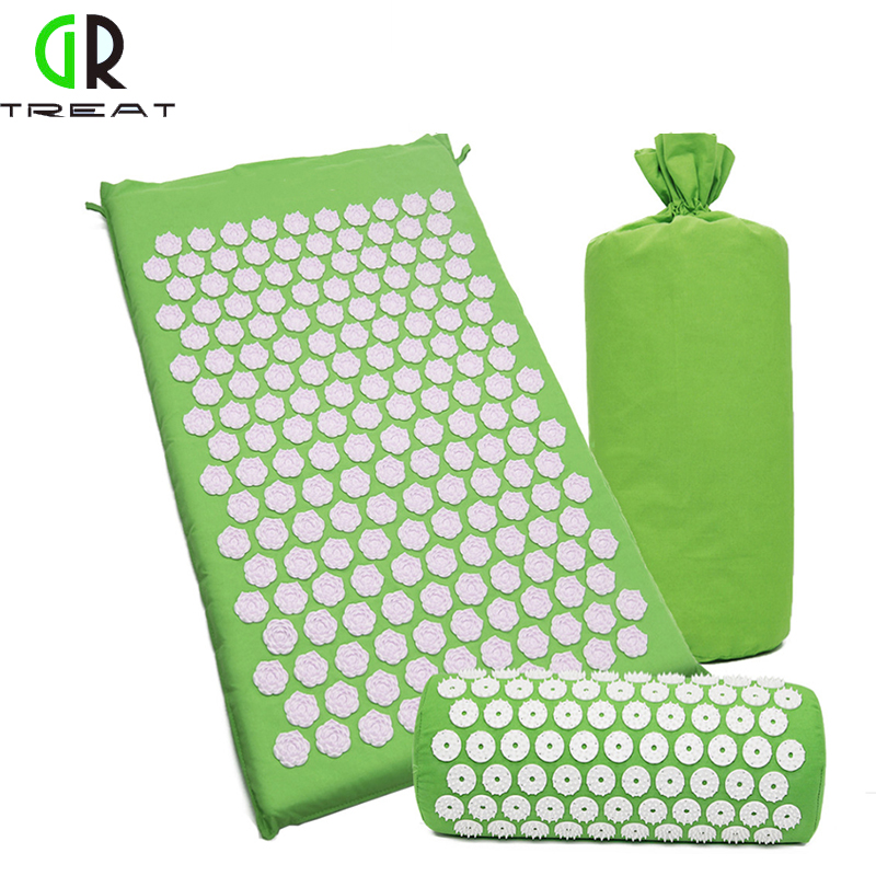 GR Treat Lotus Acupressure Mat Foot Massage Mat Acupressure Cushion Fitness Yoga Mat Relief Body Pain цены