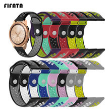 FIFTAT Sport Wrist Band For Samsung Galaxy Smart Watch 42mm Silicone Strap For Huami Amazfit Bip Youth Bracelet 20mm Accessories(China)