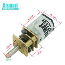 1 adet Bringsmart N20 mikro motor elektrikli şanzıman motoru 3v 6v 12v 15/30/50/60/100/200/300/500/600/1000/1500 d/d