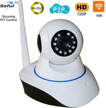 Saful 720P IP Camera WiFi Wireless Home Security Camera Surveillance Baby Monitor Night P2P network IR with alarm sensor