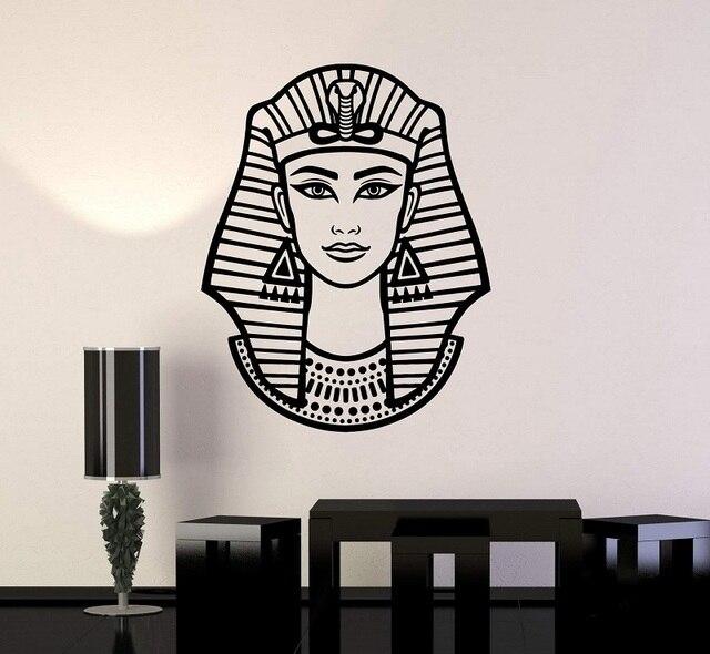 الفينيل الجدار صائق امرأة المصري فرعون نفرتيتي المصري الفن ملصق الجداريات ديكور المنزل غرفة نوم ملصقات حائط مناسبة لغرفة المعيشة 2AJ7