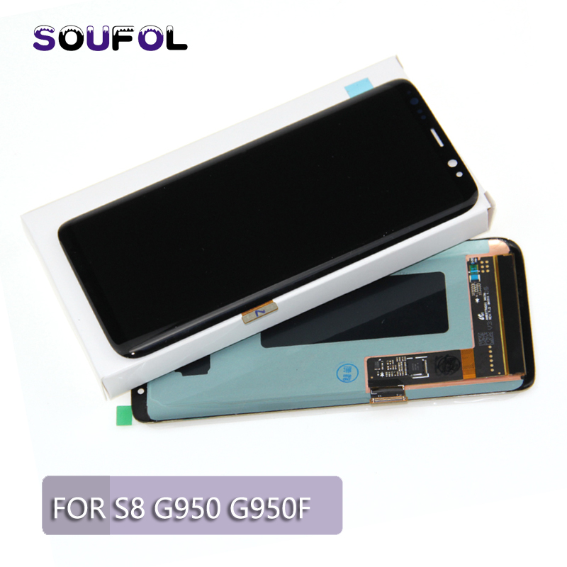 For Samsung Galaxy S8 G950 G950F Liquid crystal display Show With Contact Digitizer Meeting For Samsung S8 Plus G955 Liquid crystal display Alternative