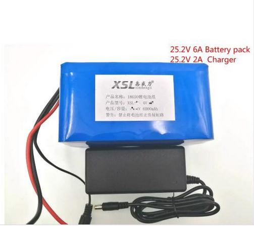 24 V 6ah 6s3p 18650 rechargeable Li ion battery 25.2 V 6000 MAH moped electric bicycle  electric  lithium ion battery battery