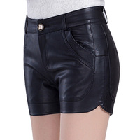 Women S Clothing Fashion Leather Shorts 2017 New Slim Casual Shorts Spring And Summer Clothes
