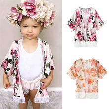 07c790f6c9f98d Cute Summer&Spring Coats Toddler Baby Girls Flower Tassel Kimono Shawl Cardigan  Tops Outfits Clothes Dropshipping 822