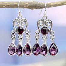 Vintage Ethnic Purple Gem Drop Water Earrings for Women Wedding Jewelry Tassel Bohemian Boucles Brincos Pendientes Bijoux O5M053
