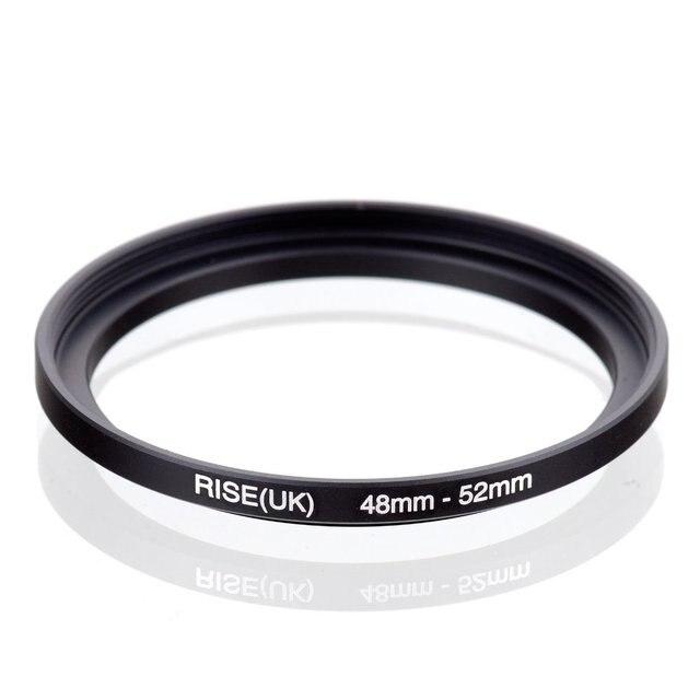 מקורי עלייה (בריטניה) 48mm 52mm 48 52mm 48 כדי 52 שלב עד טבעת מסנן מתאם שחור