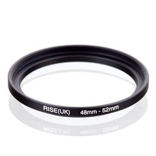 original RISE(UK) 48mm 52mm 48 52mm 48 to 52 Step Up Ring Filter Adapter black