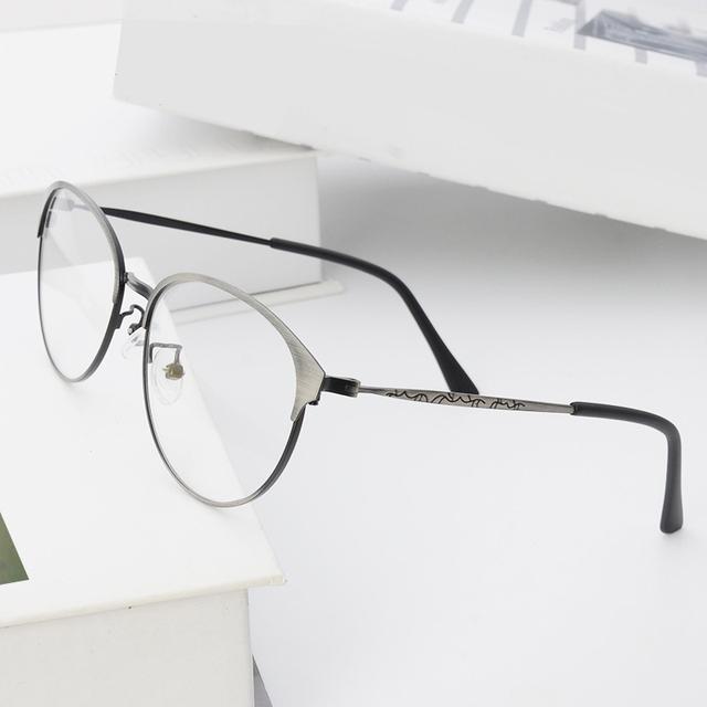 Transparente Quadro Óculos Para As Mulheres Homens Rodada E Metal Em Espetáculos Quadro Com Lente Clara bj52018