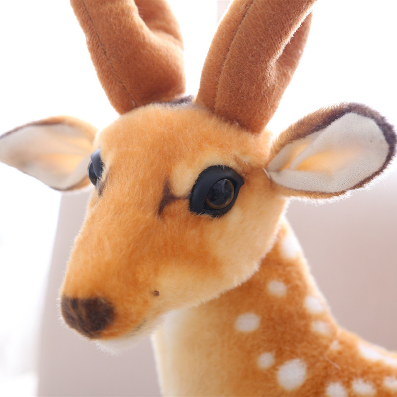 Simulation animal Sika deer Plush Toys station style Staffed Toy for Kids Baby Doll Childrens Birthday Christmas Gift 50cm
