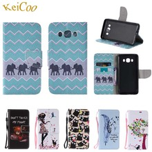 Art Pattern Cases For Samsung Galaxy J5 (2016) J5 6 SM-J510H Book Flip Wallet Stand Covers For Samsung J5 2016 Duos SM-J510FN/DS