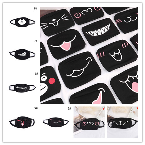 1PC Funny Teeth Pattern Anti-bacterial Dust Mouth Mask Unisex Cute Cartoon Winter Warm Face Mask High Quality