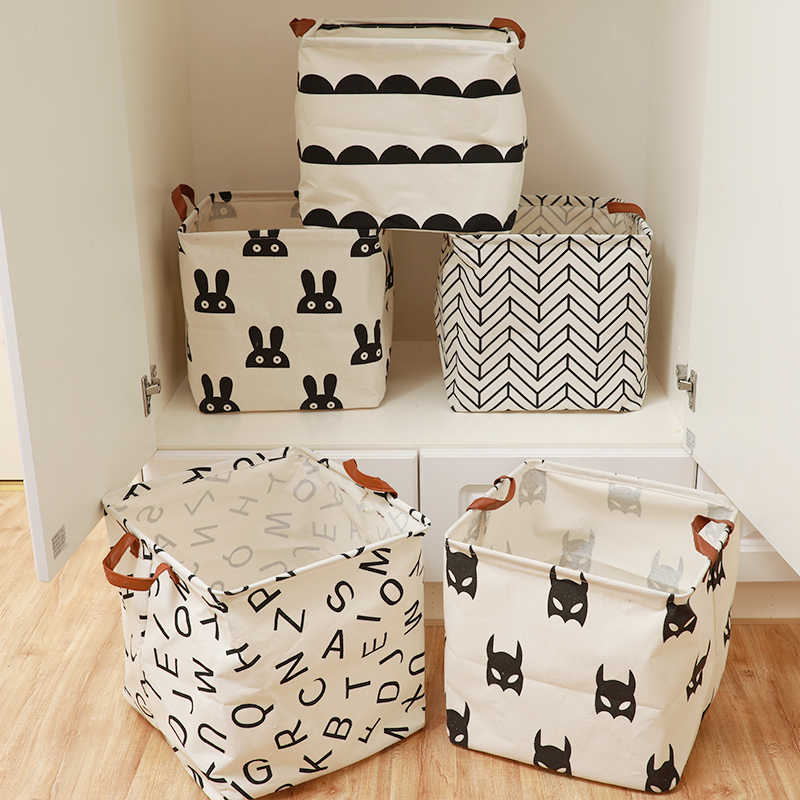 Cubo dobrável cesta de lavanderia para crianças brinquedo cesta de armazenamento de artigos diversos livros lego brinquedos do cão caixa de armazenamento organizador saco de armazenamento de roupas