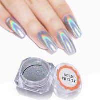 Poudre d'ongle Laser brillant holographique paillettes d'ongle 1g poussière colorée Chrome Pigment manucure Pigments décorations d'art d'ongle